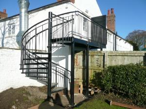 External Fire Escape - Crosby, Carlisle, Cumbria